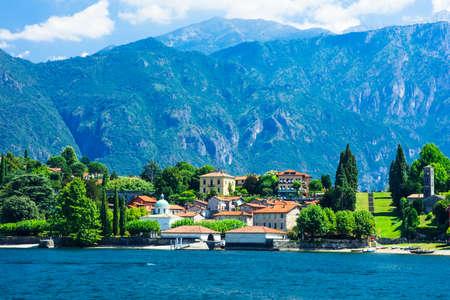 lake como: romantic Lago di Como, Italy Stock Photo