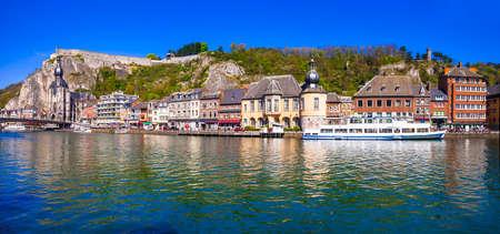 panorama of beautiful town Dinant in Belgium