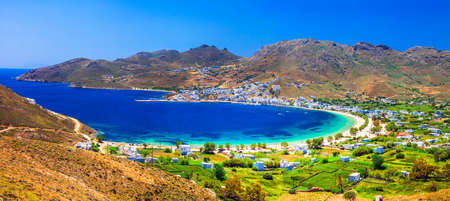 lesure: Serifos island, beautiful bay, Cyclades, Greece