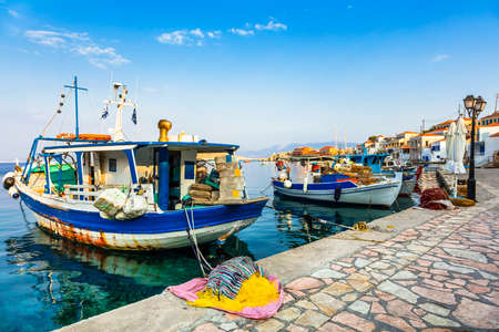 halki: traditional fishing boat in Greek islands - Chalki