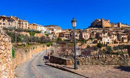 patrimony: medieval village Alquezar in Spain
