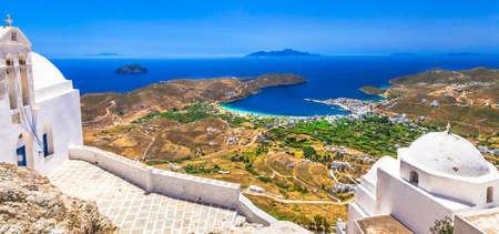 pictorial: pictorial Greek islands - Seifos, top view with monastery