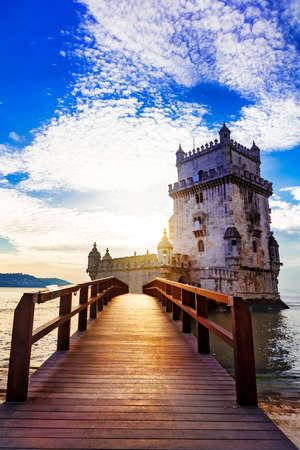 belem: Tore of Belem - landmark of Lisbon, Portugal