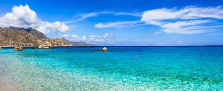 costal: emeral beautiful beaches of Greek islands, karpathos