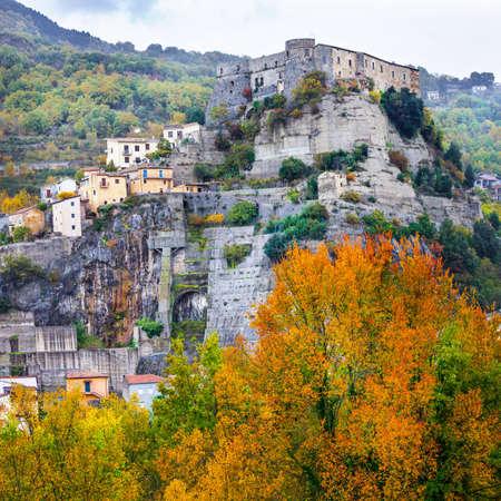 al: medieval impressive villages of Ita; y - Cerro al Volturno, Molise Stock Photo