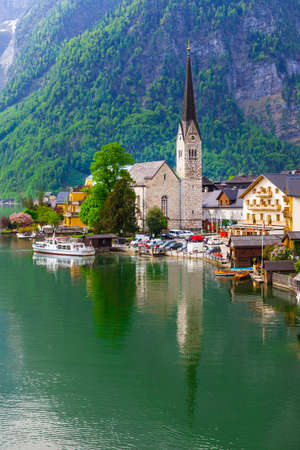dream lake: Hallstatt - charming small village in Austria