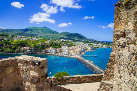hollidays: Ischia island - view from Aragonese Stock Photo