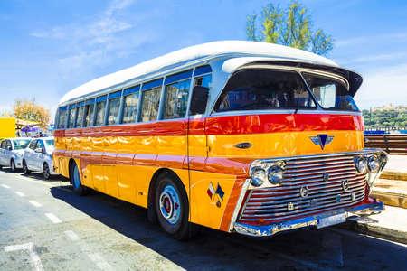 famous retro bus in Malta