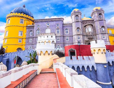 Landmarks of Portugal - Pena castle in Sintra Editorial
