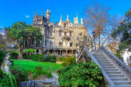 quinta: Quinta da Regaleira castle in Sintra, Portugal Editorial