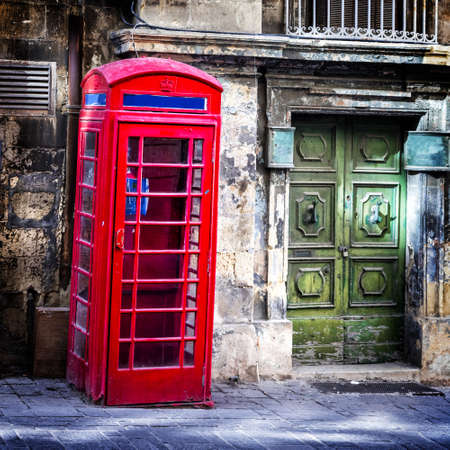 telephone booth: Malta - old telephone booth in Valletta