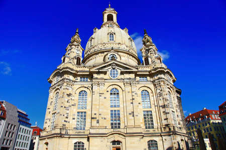 Landamarks of Germany - iconic cathedral Frauenkrirche in Dresden