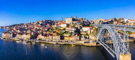 beautiful Porto - panoramic view of city. Portugal
