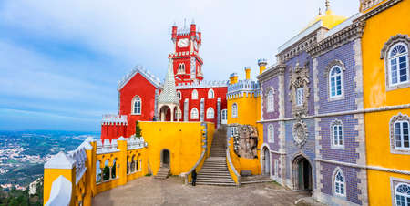 pena: Landmarks of Portugal - Pena castle in Sintra Editorial