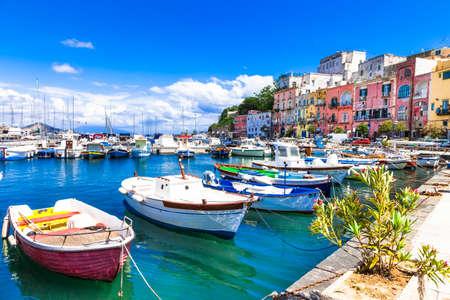 positano: colorful small island Procida, Italy