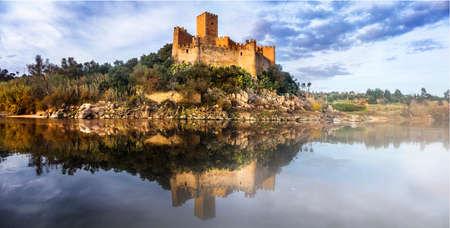ribatejo: medieval castle of templars - Almourol in Portugal