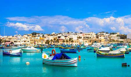 Malta - traditional fishing village in Marsaxlokk