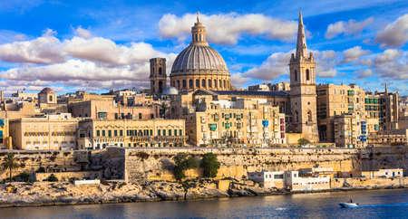 Malta - beautiful Valletta town panoramic view