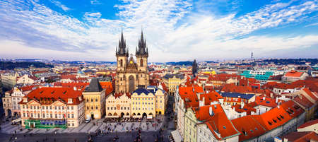 beautiful panorama of Prague