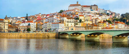 Landmarks of Portugal - beautiful town Coimbra Stock Photo