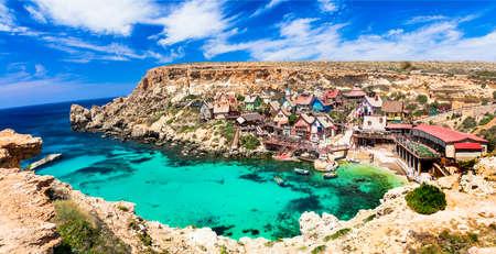 Malte - beau village de Popeye Banque d'images - 60013548
