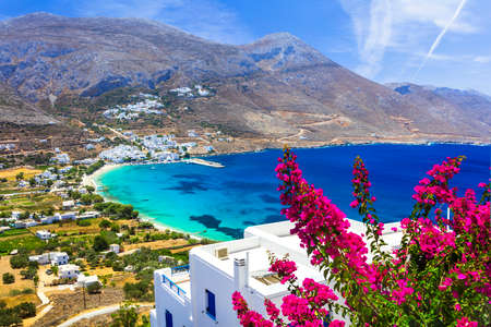 LEs grecques paysages - Amorgos, Cyclades Banque d'images - 60383828