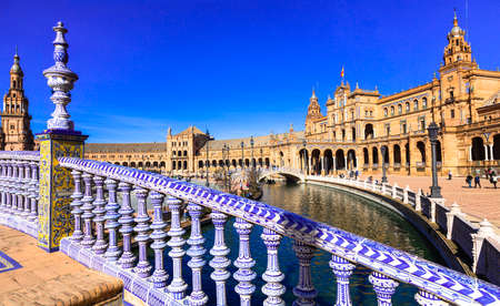 landmarks and beautiful places of Spain - Plaza de Espana in Seville
