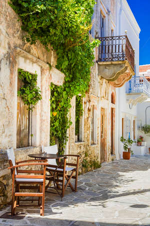 charming streets of Greek villages, Naxos island