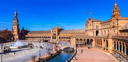 sevilla: Sevilla - Plaza Espana, Andalusia, Spain