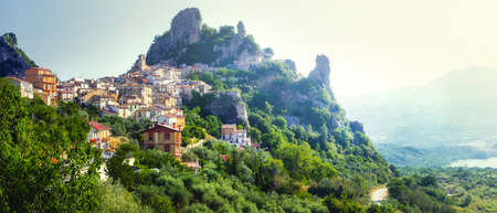 beautiful places of Italy - village Pennadomo in Abruzzo mountains