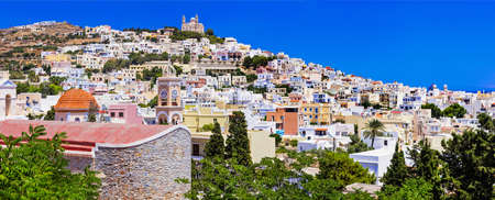 ano: colors of Greece - beautiful Syros island view of Ano Syros village