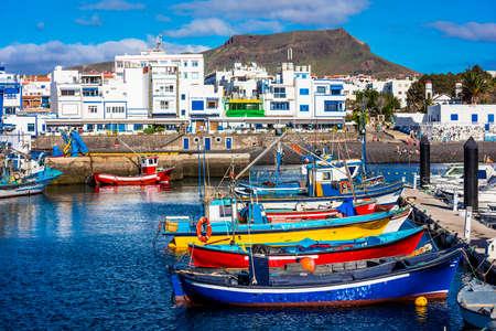 プエルト ・ デ ・ ラス ・ ニエベス - グラン ・ カナリア島の絵漁村