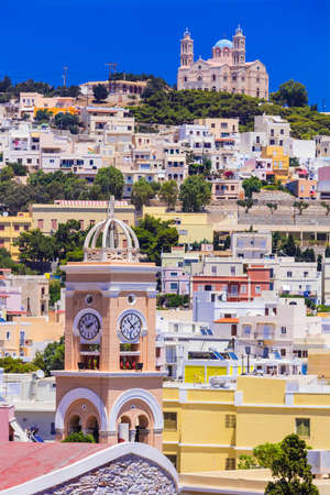 ano: Colors of Greece series - Syros island, Ano Syros village