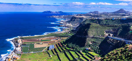 nature landscapes of Gren Canaria, Spain Stock Photo