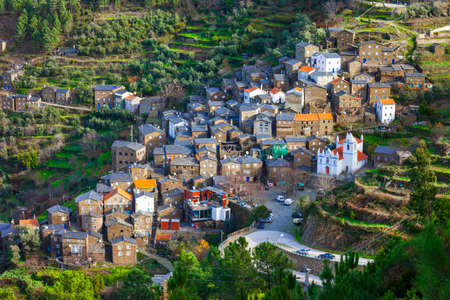 Piodao - picturesque village in mountains. Portugal Stock Photo