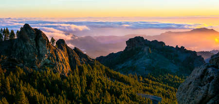 Gran Canaria - sunset over mountains