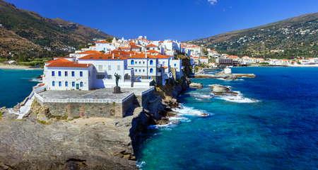 prachtige eilanden van Griekenland - Andros, zicht op Chora