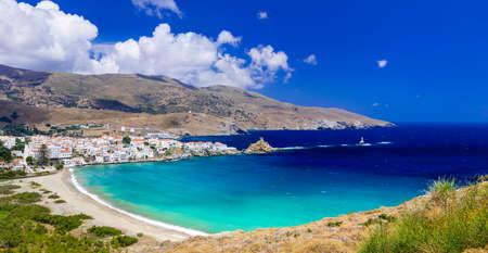 風光明媚なギリシャの島々 - アンドロス島、キクラデス諸島 写真素材