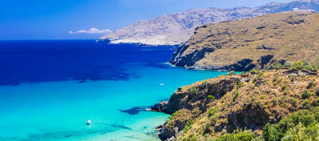 Beautiful turquoise beaches of Greece - Andros island, Cyclades
