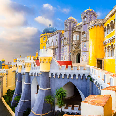 pena: famous Pena castle in Sintra, Portugal