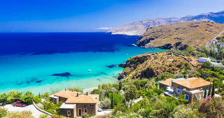 andros: Beautiful turquoise beaches of Greece - Andros island, Cyclades