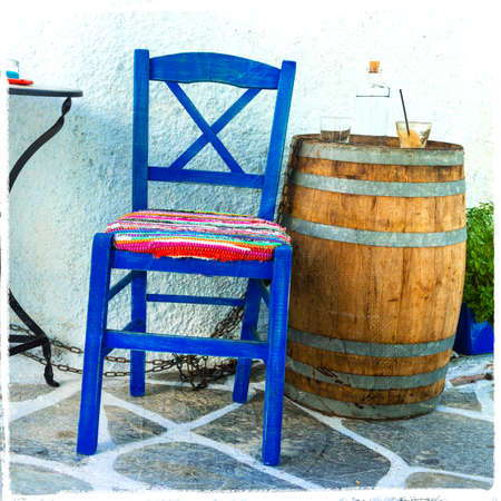 taverna: small traditional bars (cafe) in Greece Stock Photo