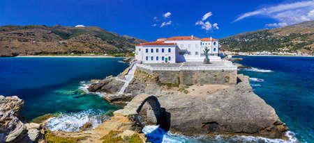 chora: pictorial Andros island - view of Chora. Greece