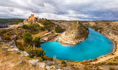 impressive: impressive scenery with Alarcon castle and lake, Spain (near Cuenca)