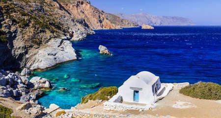 greek islands: beautiful scenery of Greek islands - Amorgos, Agia Anna beach