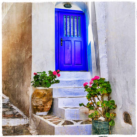 cyclades: streets of greek villages, Cyclades, Amorgos island