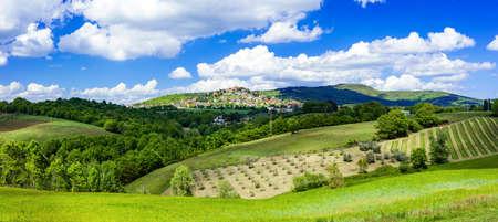 agriturismo: scenic rural landscapes of Italy, Montegabbione, Umbria Stock Photo