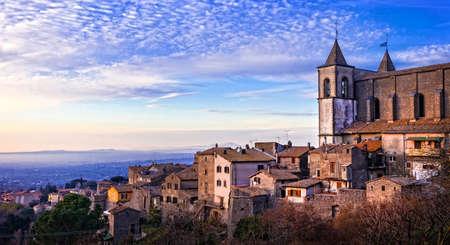 lazio: San Martino al Cimino - medieval village in Lazio, Italy