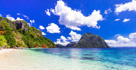 shore: tropical paradise of Philippines, Palawan island