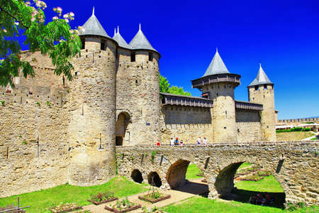 Carcassone - biggest town fortress in France Editorial